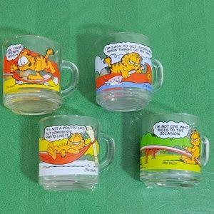 *Vintage Garfield Comic Mugs McDonalds Bundle
